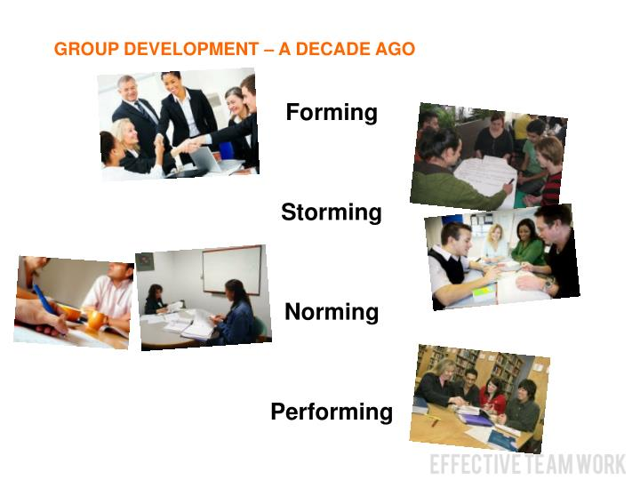 GROUP DEVELOPMENT – A DECADE AGO