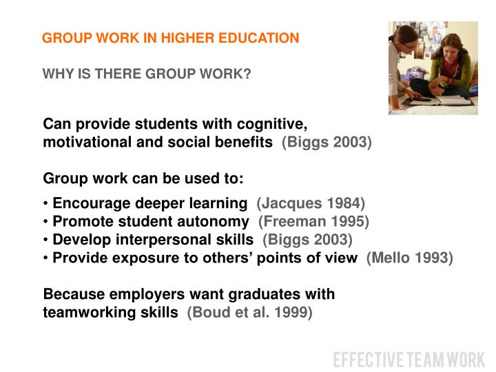 GROUP WORK IN HIGHER EDUCATION