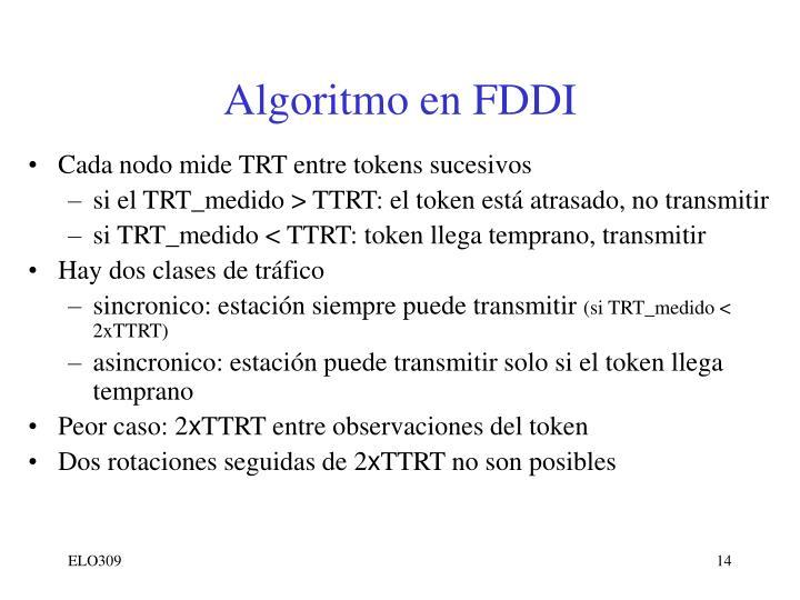 Algoritmo en FDDI