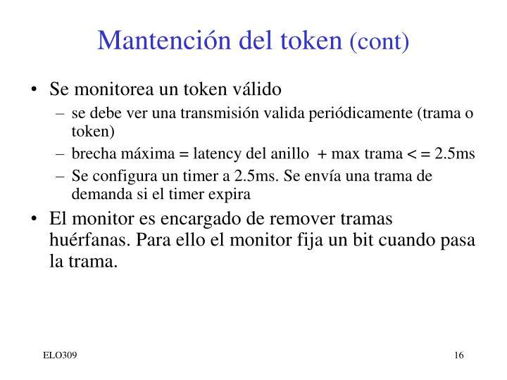 Mantención del token