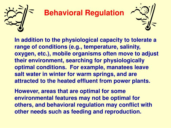 Behavioral Regulation