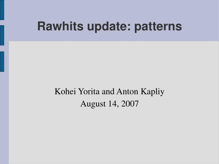 Kohei yorita and anton kapliy august 14 2007