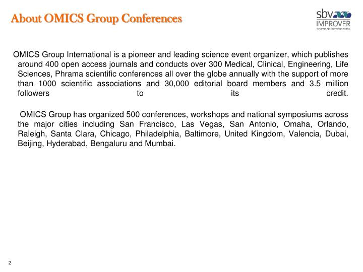About omics group conferences