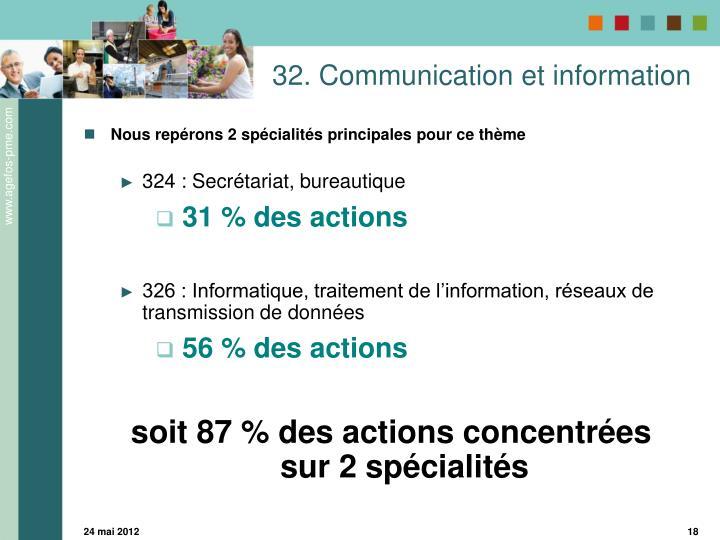 32. Communication et information