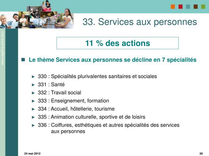 33. Services aux personnes
