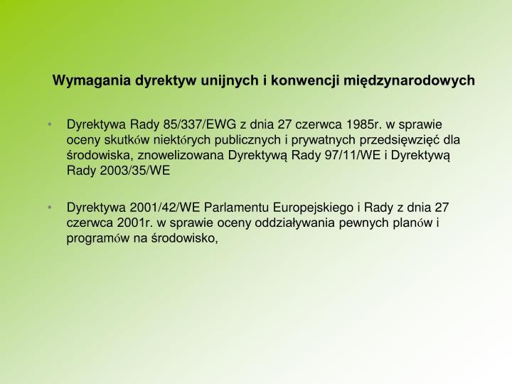 Wymagania dy