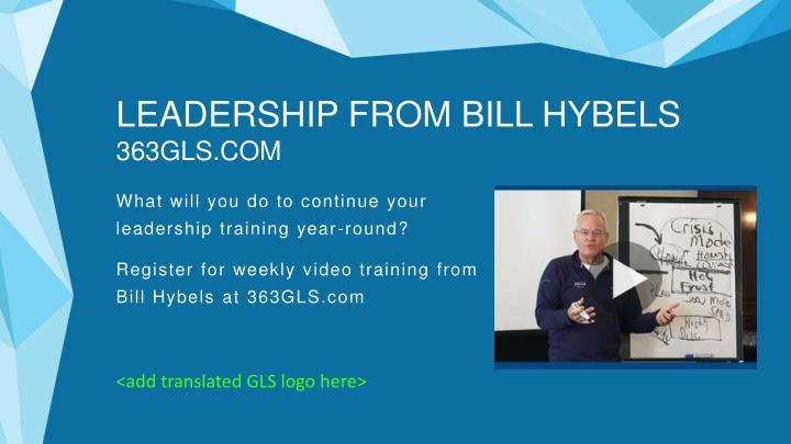LEADERSHIP FROM BILL HYBELS