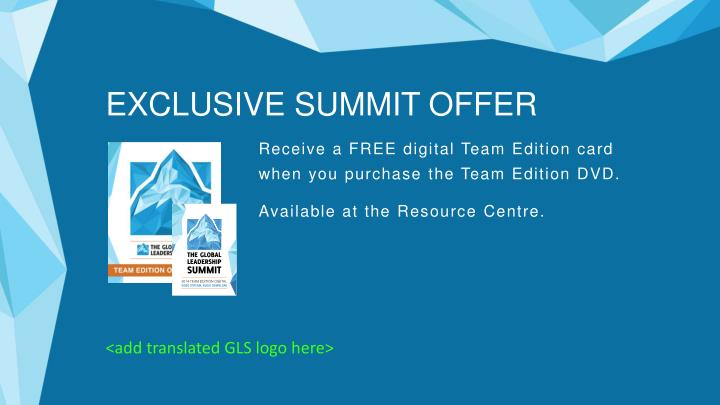 EXCLUSIVE SUMMIT OFFER