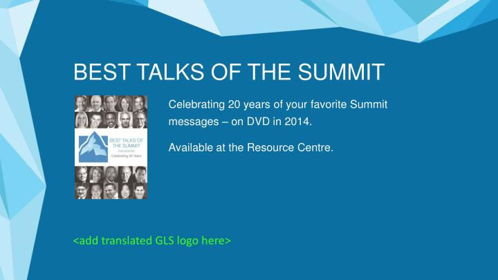 BEST TALKS OF THE SUMMIT