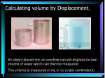 calculating volume by displacement