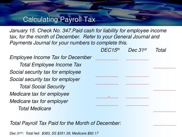 Calculating Payroll Tax