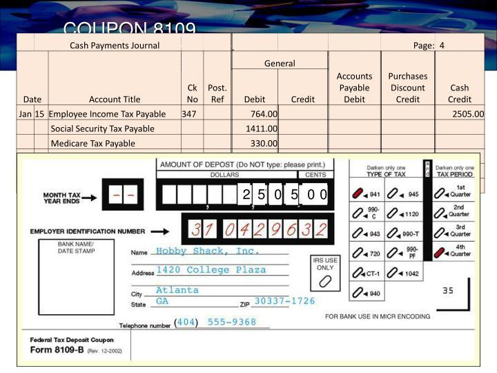 COUPON 8109,