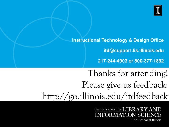Instructional Technology & Design Office