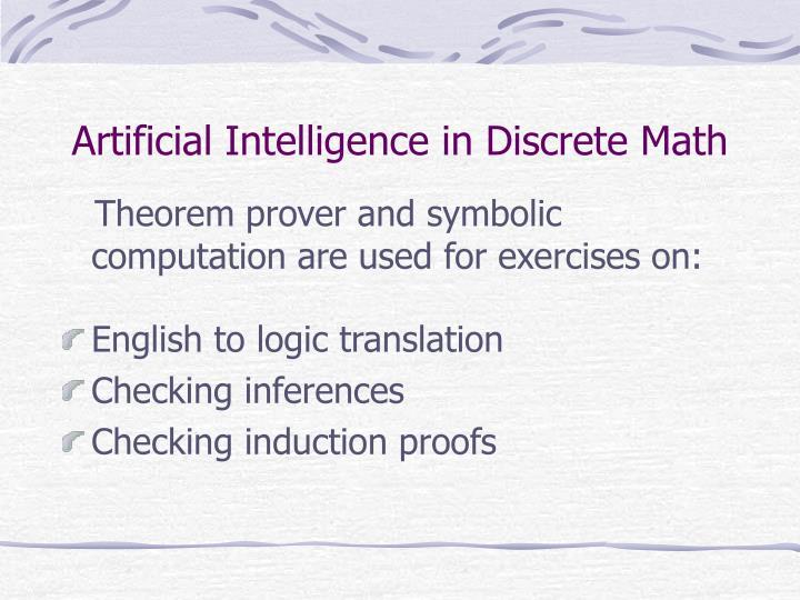 Artificial Intelligence in Discrete Math