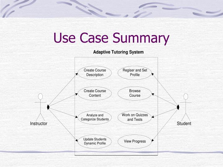Use Case Summary