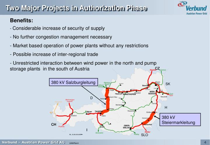 Two Major Projects in Authorization Phase