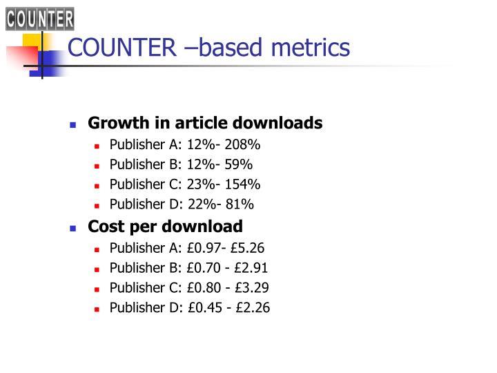 COUNTER –based metrics