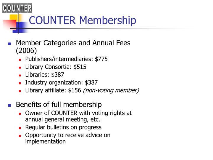 COUNTER Membership
