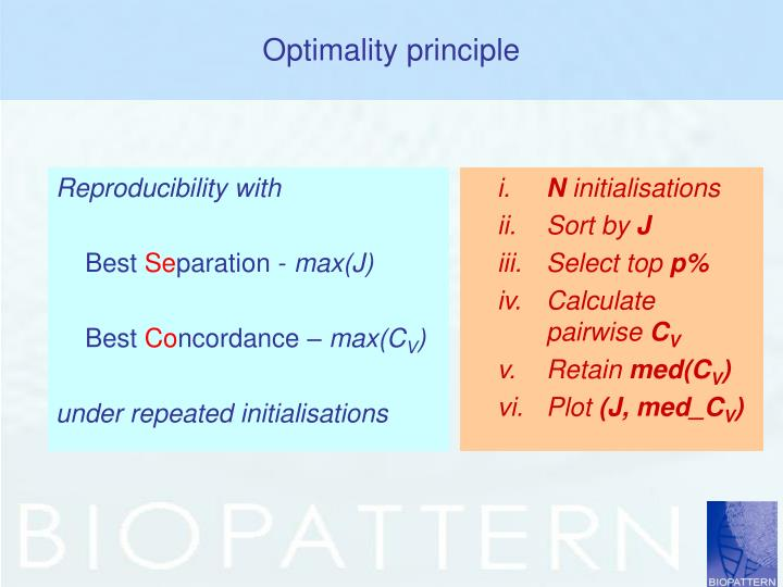 Optimality principle