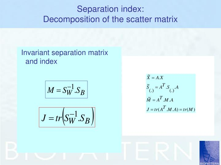 Separation index: