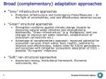 broad complementary adaptation approaches