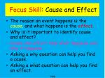 focus skill cause and effect