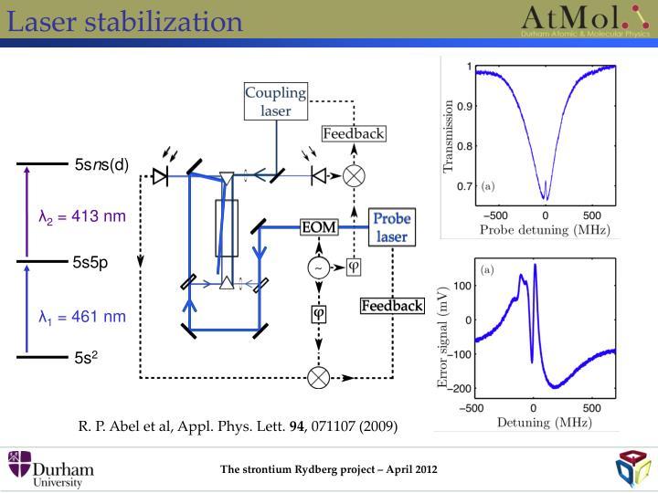 Laser stabilization