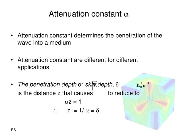 Attenuation constant