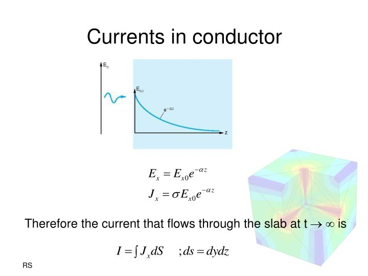 Currents in conductor