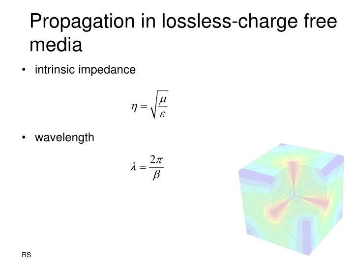 Propagation in lossless charge free media1