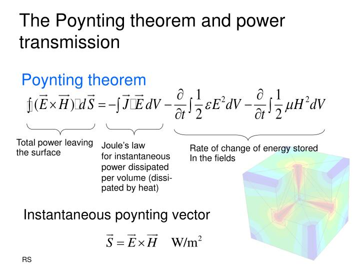 The Poynting theorem and power transmission