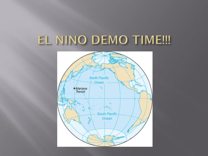 EL NINO DEMO TIME!!!