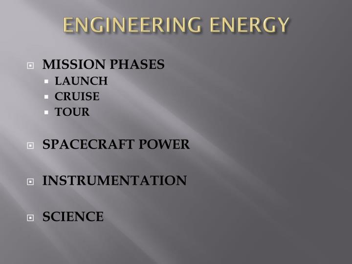 Engineering energy