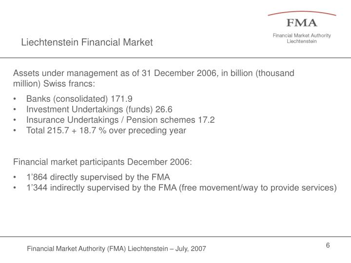 Liechtenstein Financial Market