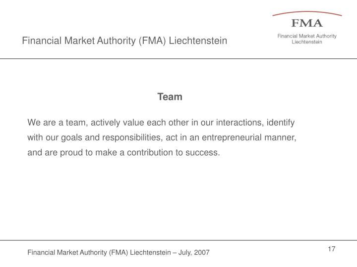 Financial Market Authority (FMA) Liechtenstein