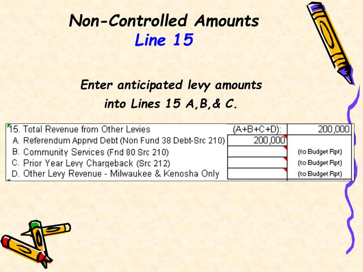 Non-Controlled Amounts