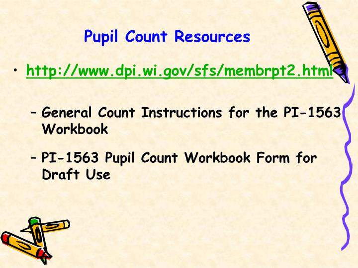 Pupil Count Resources