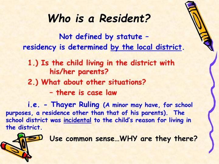 Who is a Resident?