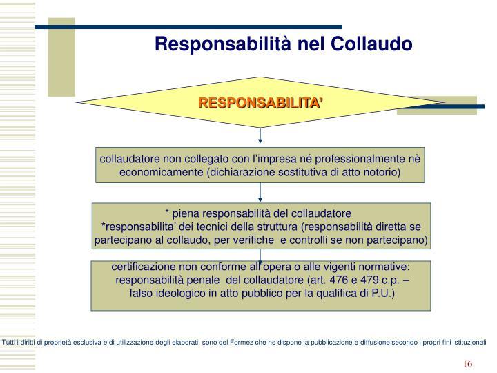 Responsabilità nel Collaudo