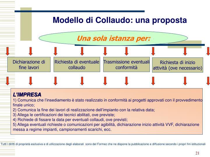 Modello di Collaudo: una proposta