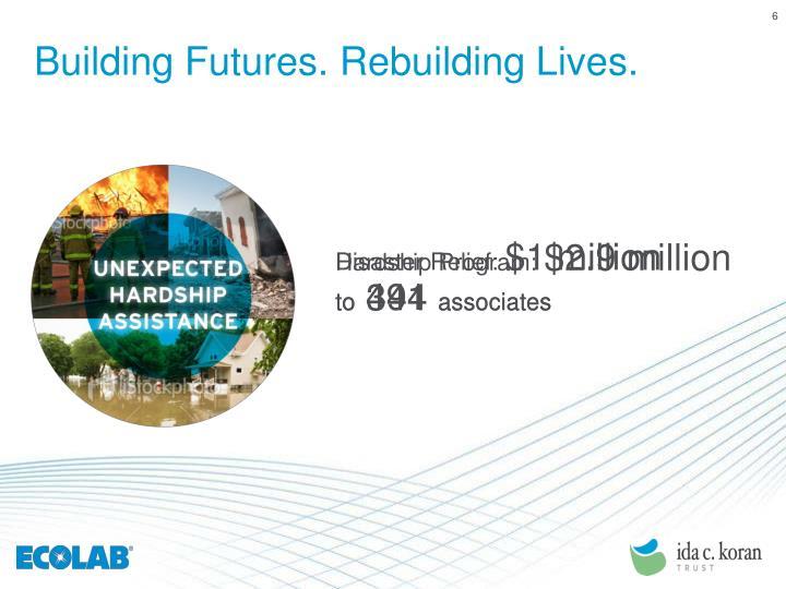 Building Futures. Rebuilding Lives.