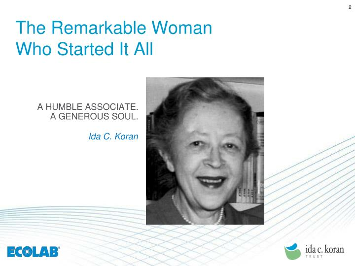 The Remarkable Woman Who Started It All