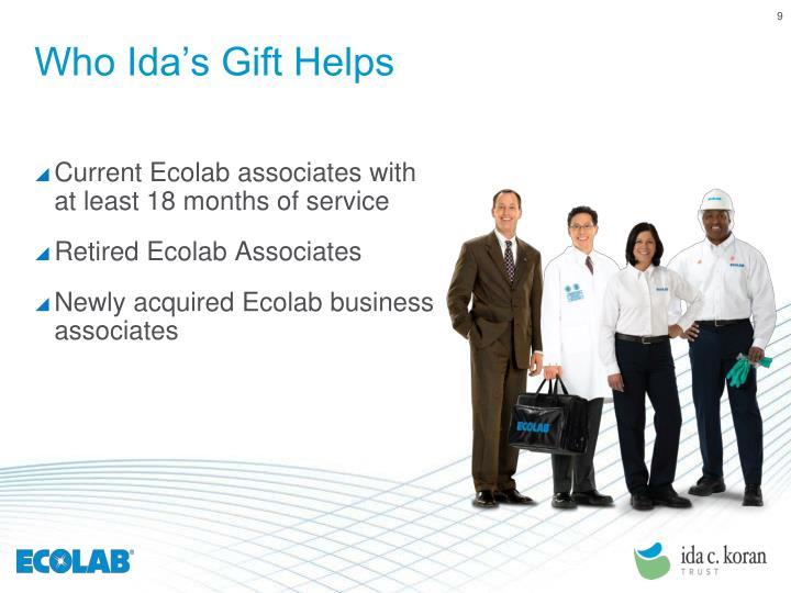 Who Ida's Gift Helps