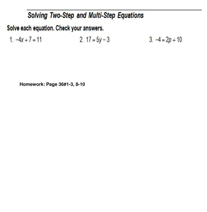 Homework: Page 36#1-3, 8-10