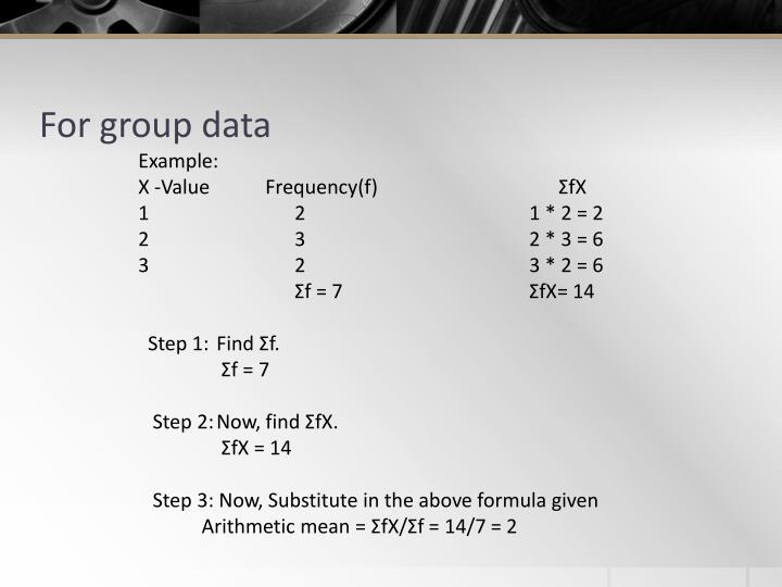 For group data