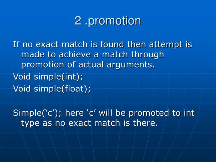2 .promotion