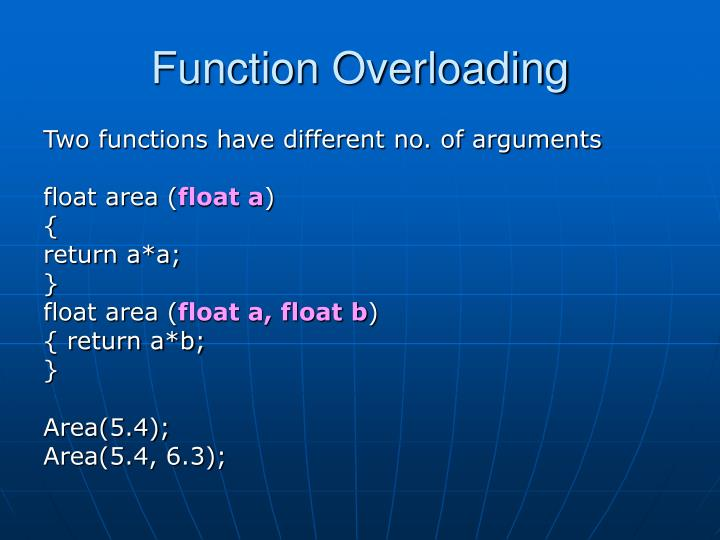 Function overloading1