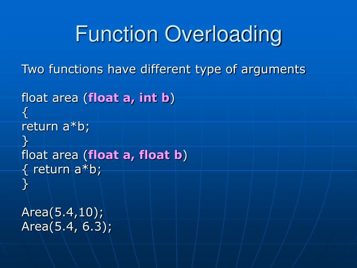 Function overloading2