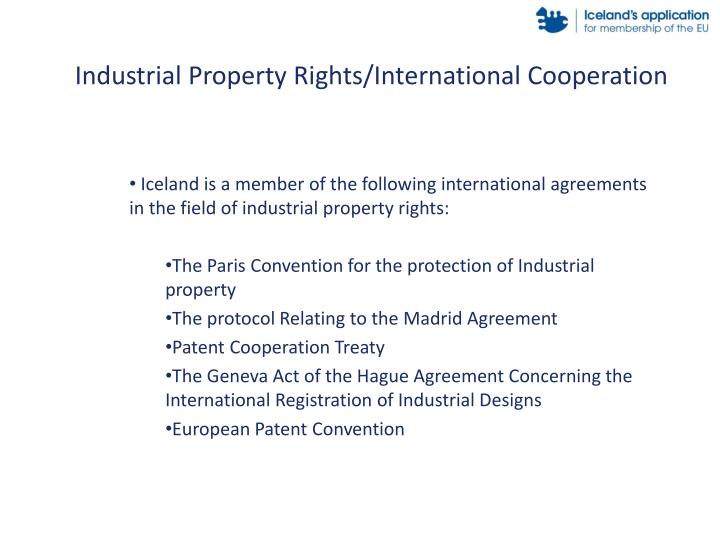 Industrial Property Rights/International Cooperation