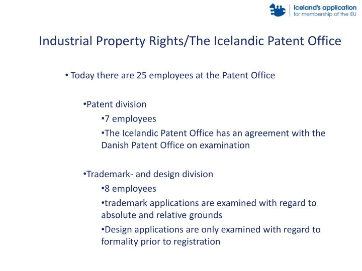 Industrial Property Rights/The Icelandic Patent Office
